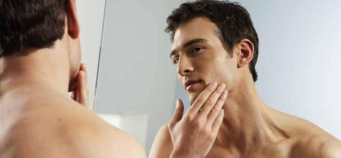 Hombre recien afeitado