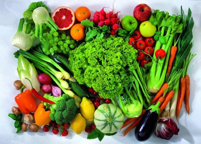 Gran variedad de verduras y hortalizas
