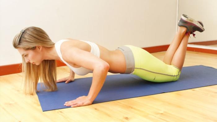 Flexion con rodillas apoyadas