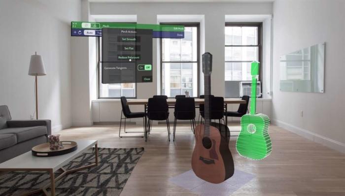 Verto Studio Vr HoloLens guitarra