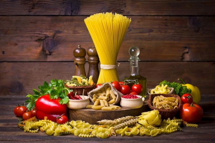 Varios tipos de pasta