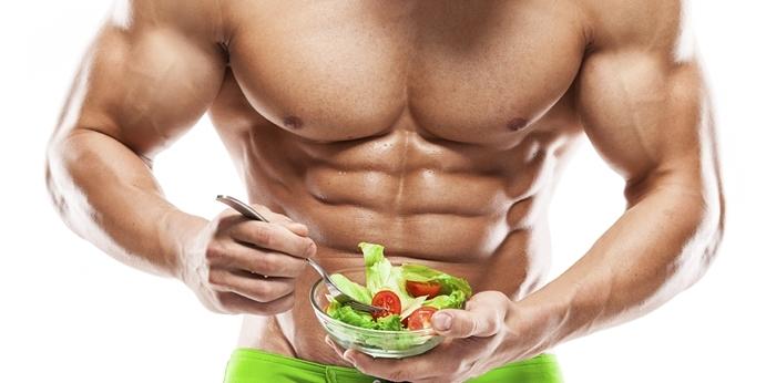Culturista alimentación saludable
