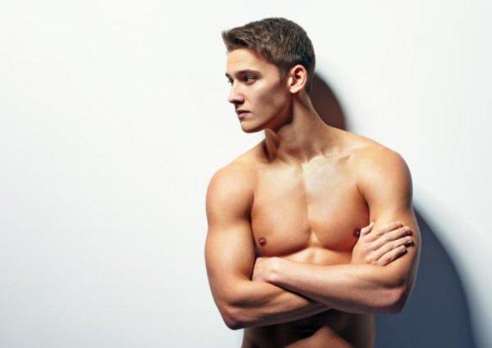 Hombre cuerpo firme