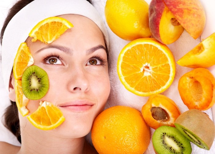 Mujer alimentos rostro