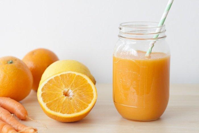 Zumo zanahoria naranja