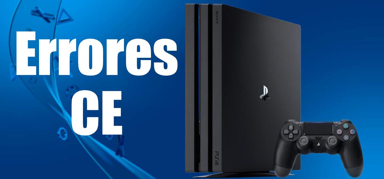 Erreurs CE de PS4