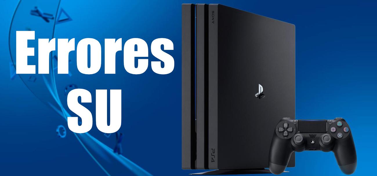 Erreurs SU sur PS4