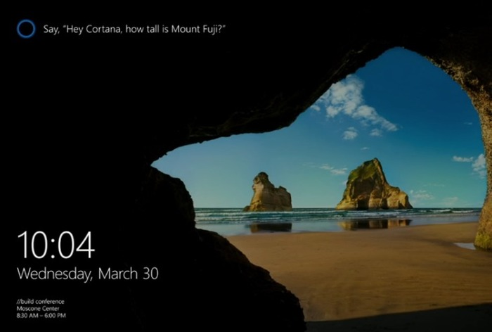 Build 2016 Cortana pantalla de bloqueo