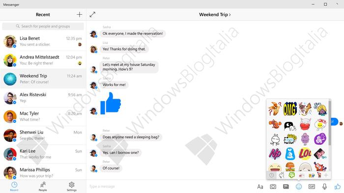 Facebook Messenger Windows 10-1