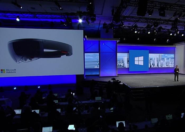 HoloLens escenario Build 2016