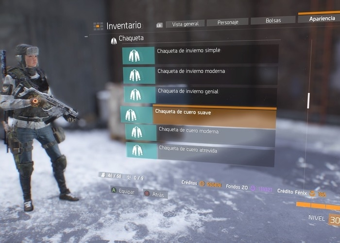 The Division ropa