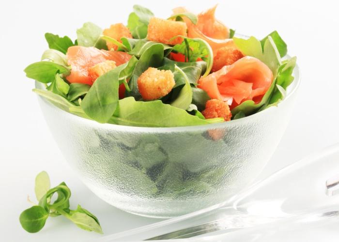 Alimentos grasas saludables ensaladas