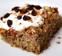Pastel de quinoa, manzana y canela