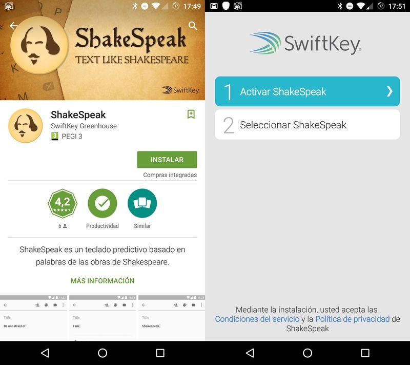 shakespeak-instalación