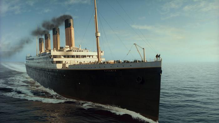 La recreación del Titanic para la película