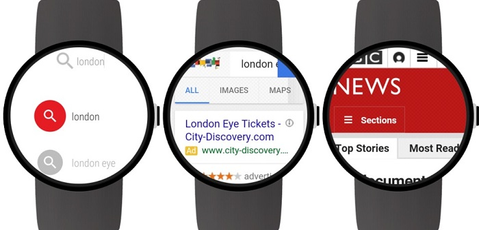capturas Web Browser for Android Wear