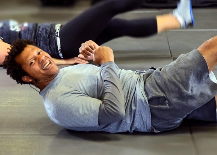 LeJon Guillory entrenando