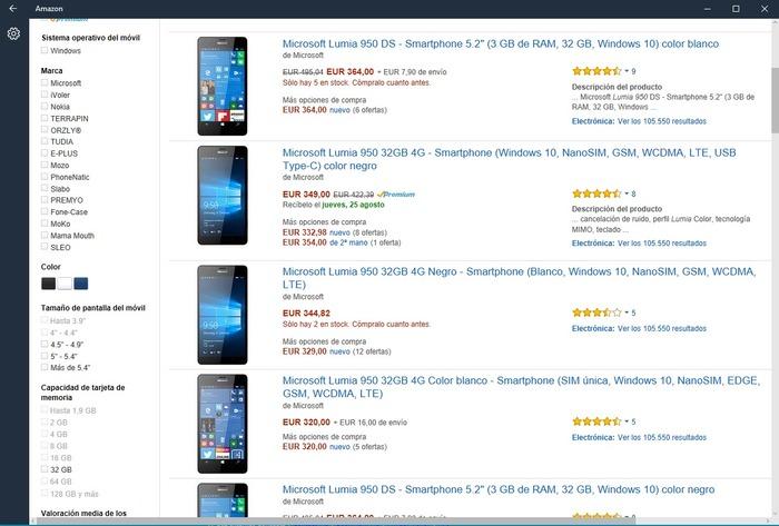 Amazon Windows 10 captura