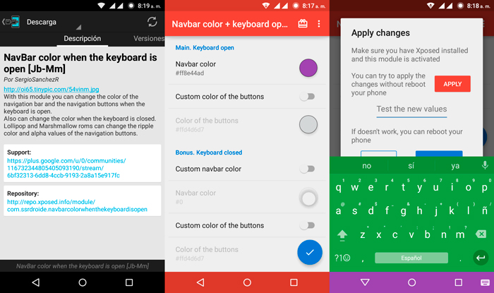 Navbar Color When The Keyboard Is Open Xposed Android Capturas