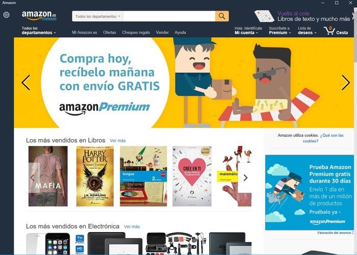 Amazon Windows 10 cabecera