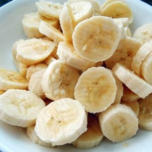Plátanos cortados