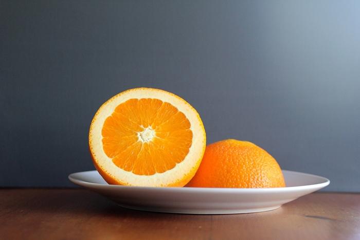 Porción de naranja