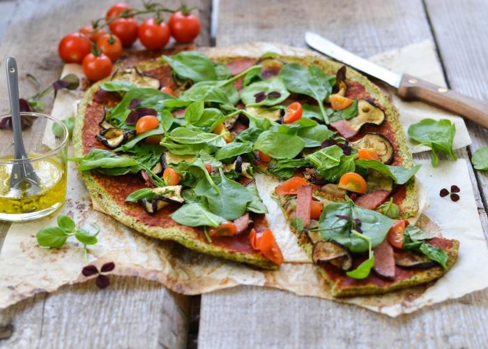 Pizza saludable brócoli