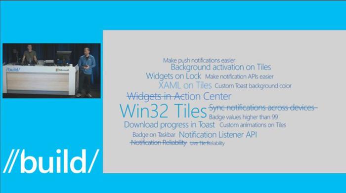 Presentación durante la Build con las novedades que llegarán a Windows 10