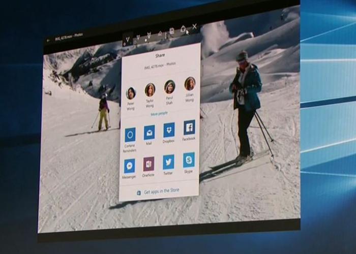 Nueva ventana de compartir en Windows 10 Creatros update