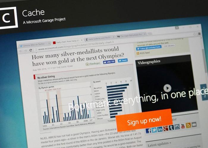 Fotografía a la web de Cache