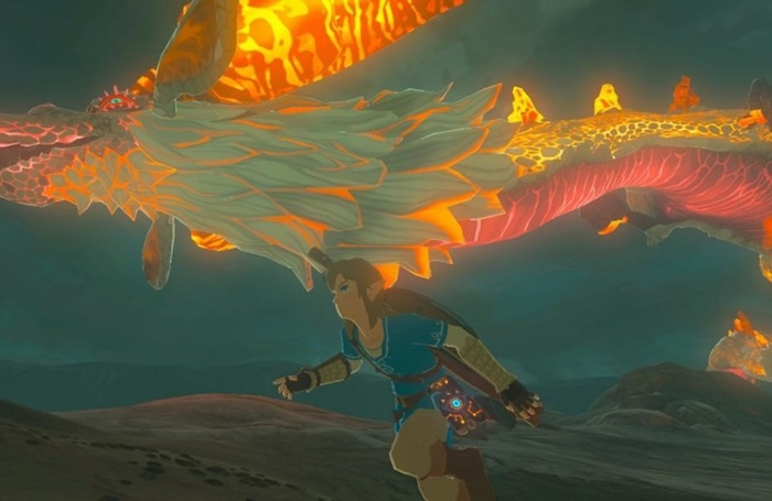 Zelda Breath of the Wild fuego