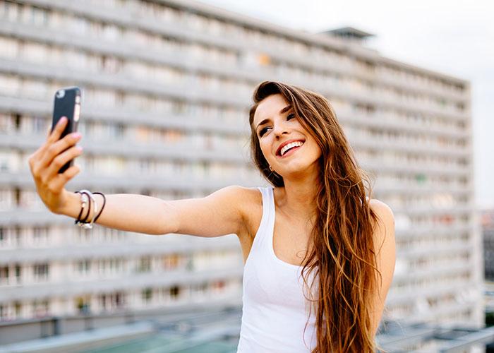 Chica selfie