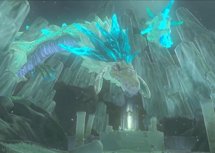 Zelda Breath of the Wild Dragón azul