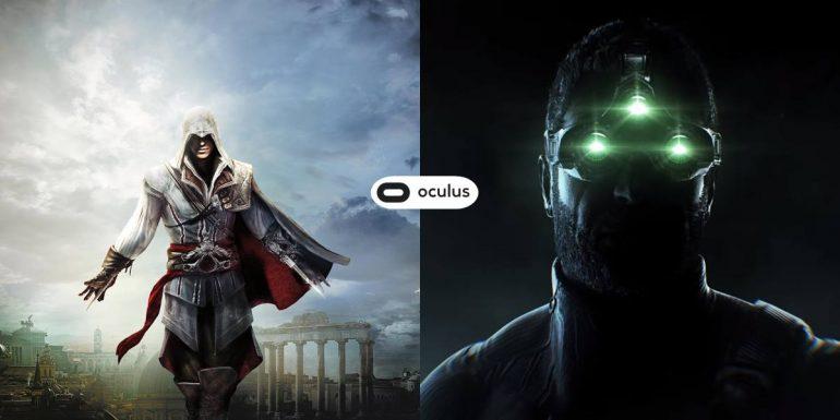 Assassin's Creed et Splinter Cell auront leurs jeux de réalité virtuelle pour Oculus
