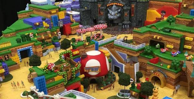 Images filtrées du modèle du parc d'attractions Nintendo