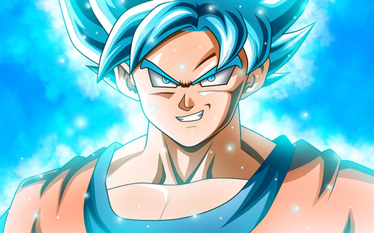 Ce graffiti Dragon Ball immortalise Goku sous sa forme Super Saiyan Blue